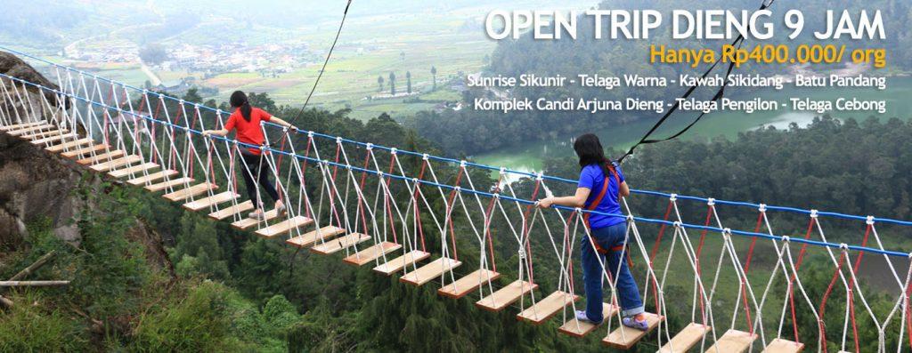 open trip dieng 9 jam